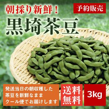 朝採り黒埼茶豆3kg(1kg×3袋)