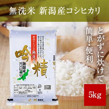令和2年産  無洗米 吟精 新潟産コシヒカリ5kg