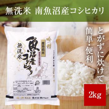 新米 令和2年産  無洗米 吟精 南魚沼産コシヒカリ2kg