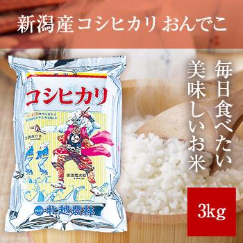 新米 30年産 新潟産コシヒカリ3kg