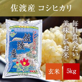 新米 30年産  佐渡産コシヒカリ玄米5kg