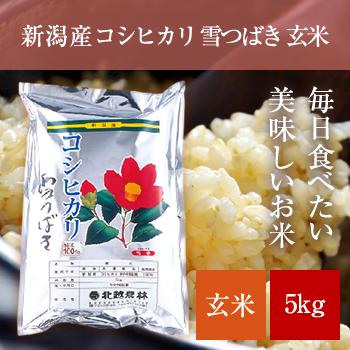 新潟産コシヒカリ 雪つばき玄米5kg