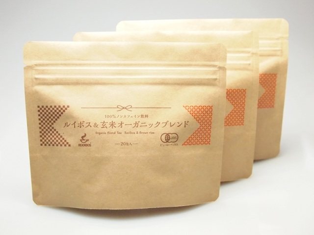 ルイボス&玄米オーガニックブレンド1.8g×20包入り×3袋セット