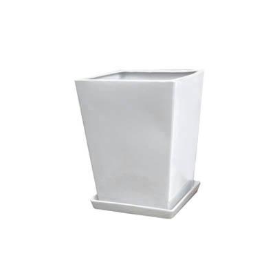 【インテリア鉢/白鉢/陶器鉢/8号】LO エルオースクエアー 29cm HO-101-3SW