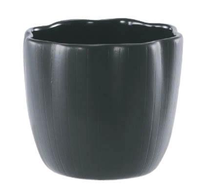 【インテリア/室内用植木鉢】エフ フラワー ブラック 12cm ML-10-3013