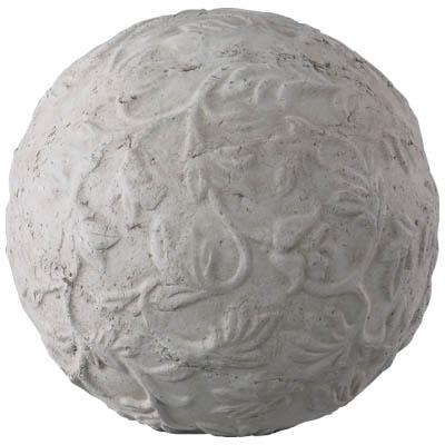【オーナメント/ボール/テラコッタ】ホワイトガーデン アラベスクボール21.5cm SA-240732