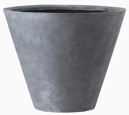 【植木鉢/樹脂製/軽量鉢/プランター】LLシンプルコーン深型 30×H23 EB-18043530