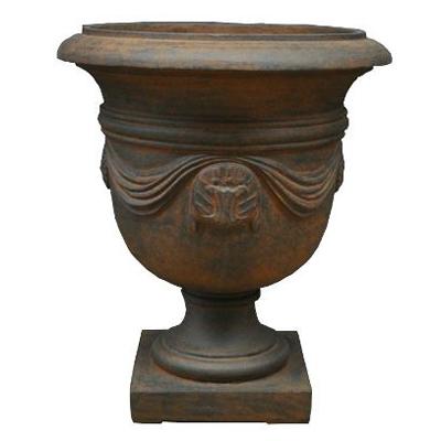 【樹脂製/軽量鉢/ファイバー/カップ型】バッセル ウルビーノ ラスティH67cm  EB-38551165WL