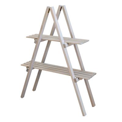 ウッド棚はしご2段