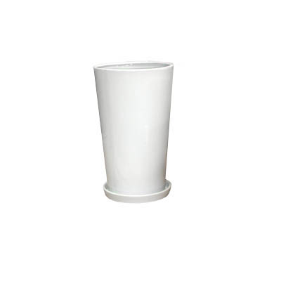 【インテリア鉢/白鉢/陶器鉢/6号】LOラウンド 21cm (HO-102-1SW)