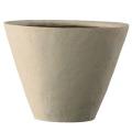SL (ストーンライト) シンプルコーン深型 30cm アイボリー(植木鉢/プランター/軽量鉢)EB-43530AIV