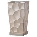 【インテリア/室内用植木鉢】ミラースクエア15cmパール HO-401P