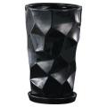 【インテリア/室内用植木鉢】ミラーラウンド21cmブラック HO-403B