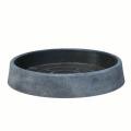 TMラウンドソーサー グレー 37cm(受皿)SD-H9937G