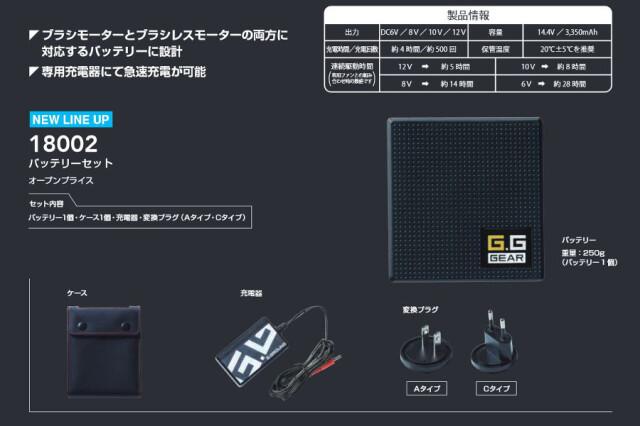 桑和空調服バッテリーセット