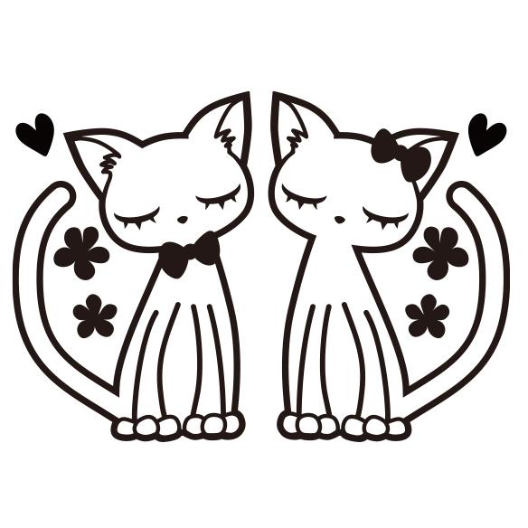 【アイロンシート】おすましネコちゃん