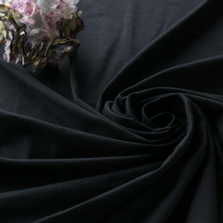 【ニット】40/2 クラシック天竺(ブラック)  オーダーカット