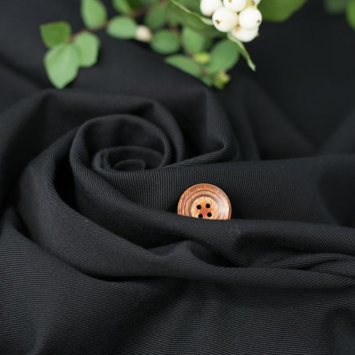 【布帛】ストレッチ・ソフトカツラギ(黒) オーダーカット