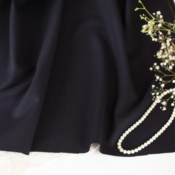 【布帛】セレモニー服にいいウール・撥水加工(ネイビー) オーダーカット