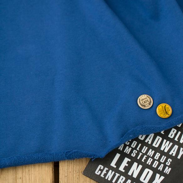 【ニット】きれいな青色の厚みのある裏毛B(海青/うみあお)オーダーカット