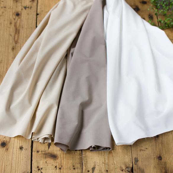 【布帛】ワンピースやブラウスにぴったり麻混・綿ポリブロード(3色)オーダーカット