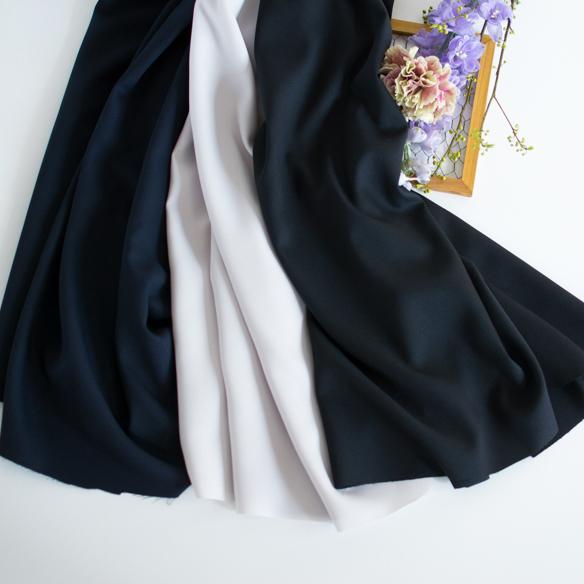 【布帛】ブラウスやスカートに!透け感少なめしなやかアムンゼン(3色) オーダーカット