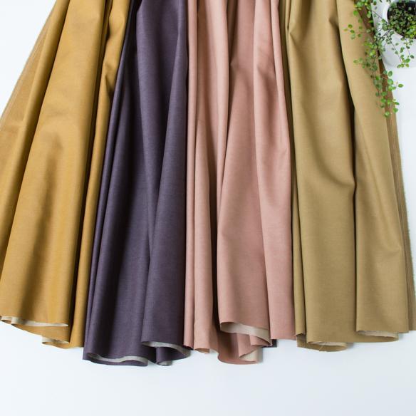 【布帛】ビンテージ風ポリエステル混カラーデニム(4色) オーダーカット