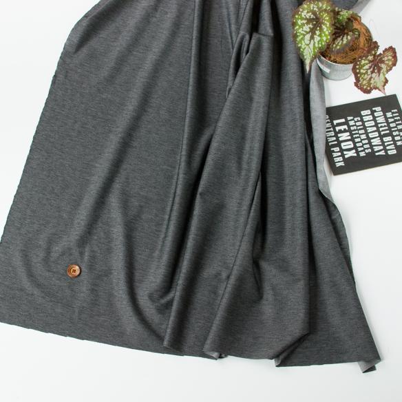 【ニット】テンション低めで縫いやすいデニムニット(ブラック) オーダーカット