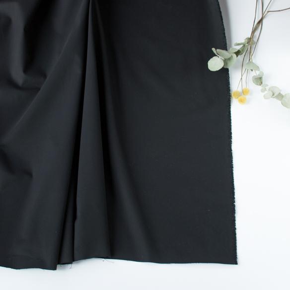 【布帛】ストレッチチノクロス(ブラック)オーダーカット