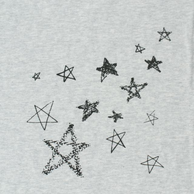 【おまけつき】【アートパネル】クレヨンと色えんぴつの星たち(ベース生地:ラフィー天竺)