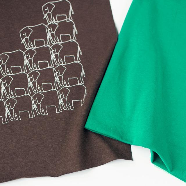 【アートパネル・はじめてセット】たくさんいるゾウ!スパンフライス・タグ付き