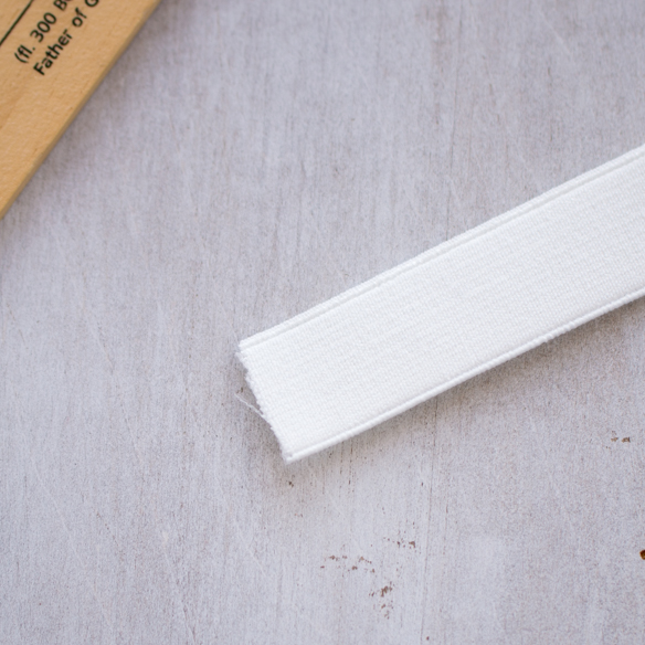 平ゴム(20ミリ/ホワイト)※1メートル単位販売※