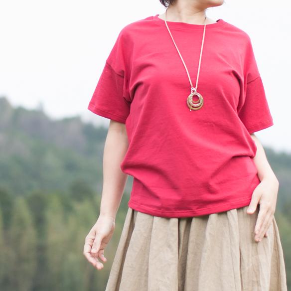 【ニット】40/2 クラシック天竺(カーネーションレッド) オーダーカット