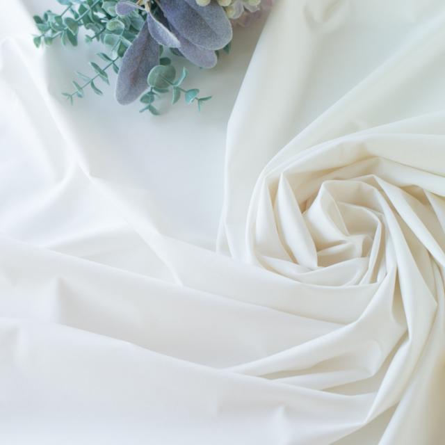 【カットクロス/70cm】布帛みたいな天竺ニット(オフホワイト)