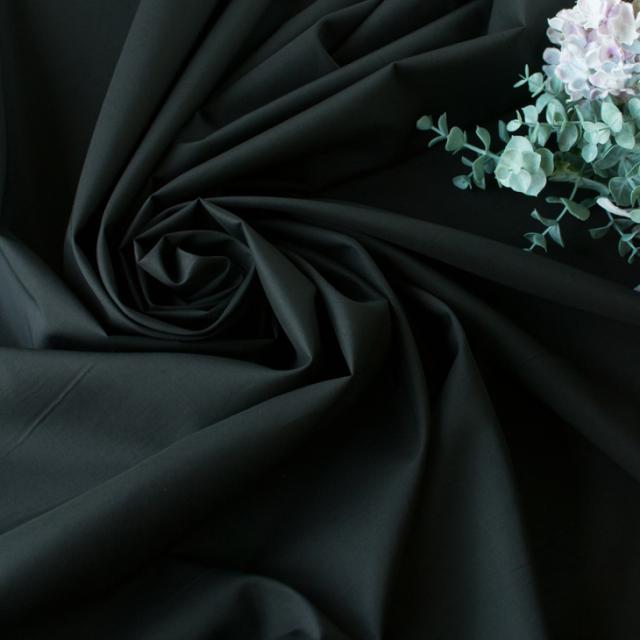【布帛】コットン・ローン(ブラック) オーダーカット