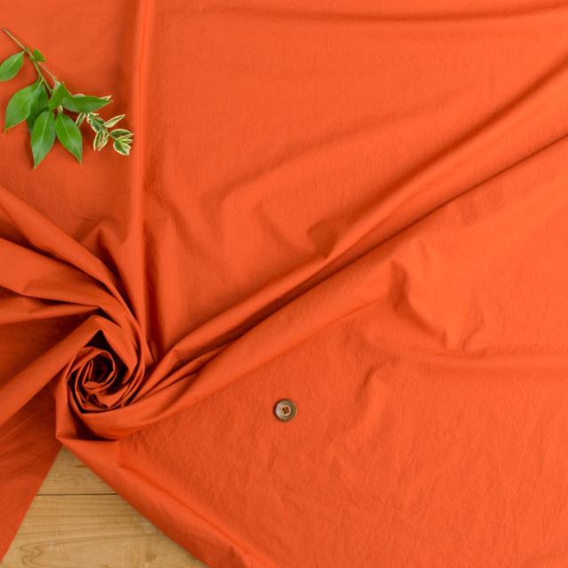 【布帛】ビンテージワッシャー加工タイプライター(アンティークオレンジ)オーダーカット