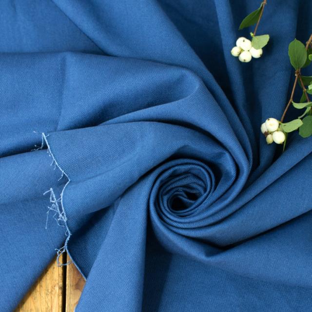 【布帛】ストレッチ・ソフトカツラギ(藍) オーダーカット