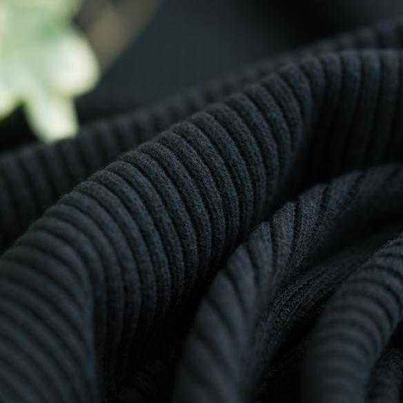 【ニット】4ミリ畔ニット(ブラック)  オーダーカット