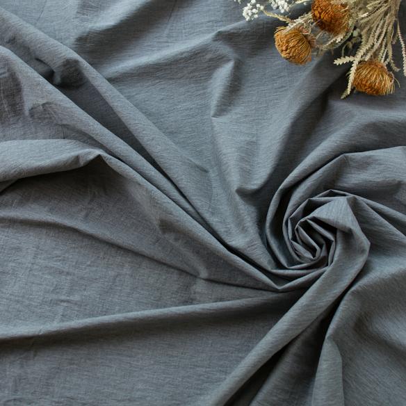 【布帛】ペーパーライククロス(濃いグレー杢)オーダーカット