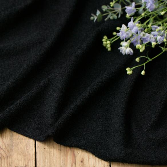 【ニット】テディベア風ファーニット(ブラック)オーダーカット