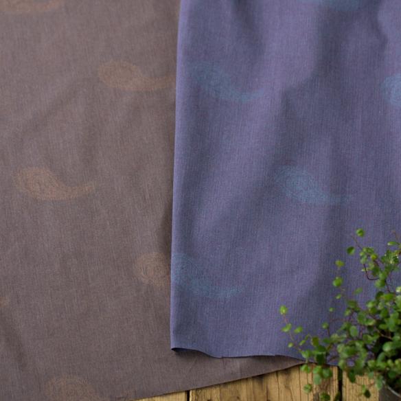 【布帛】ペイズリー柄ジャガードヘリンボーン(全2色)オーダーカット