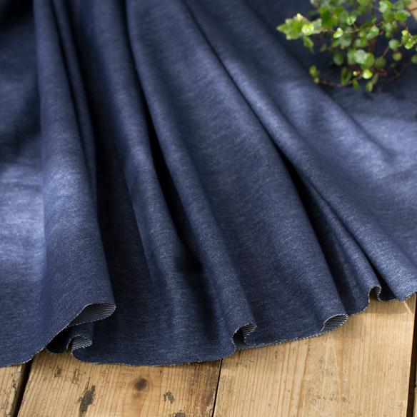 【ニット】パンツやアウターにぴったりなほどよい厚みのデニムライクニット オーダーカット