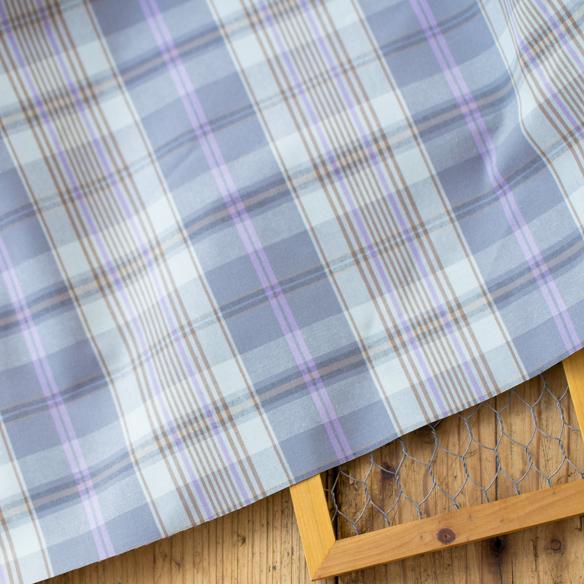 【布帛】淡カラーでオックスぐらいの厚みの透けないチェック オーダーカット