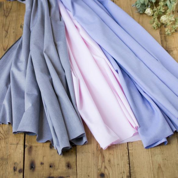 【布帛】ブラウスやワンピースに!フェザーコットン・シャンブレー(3色) オーダーカット