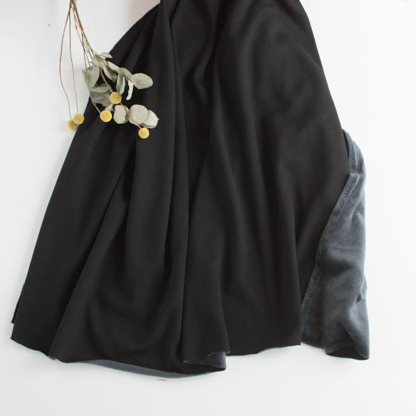 ★10月20日再入荷★【ニット】着る毛布・ボンバーヒート(ブラック) オーダーカット