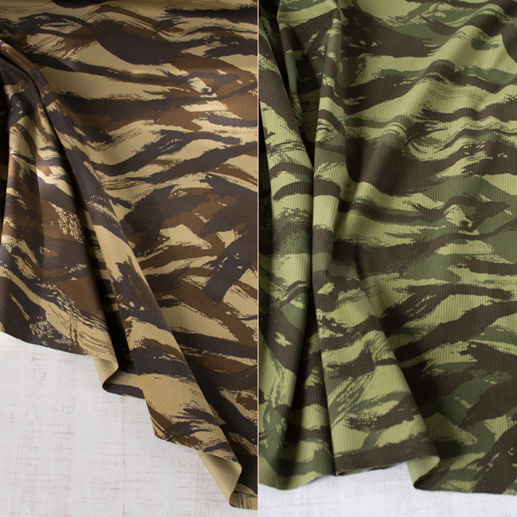 【布帛】迷彩ブラシストローク柄コーデュロイ(2色) オーダーカット