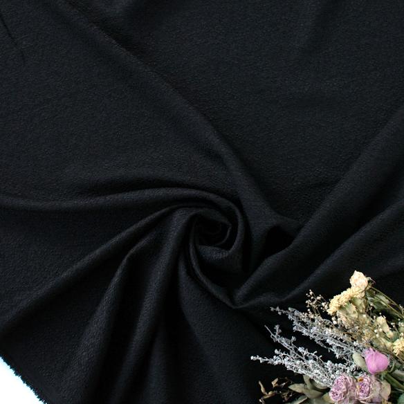 【カットクロス/60cm】スプリングファンシーツィード(ブラック)