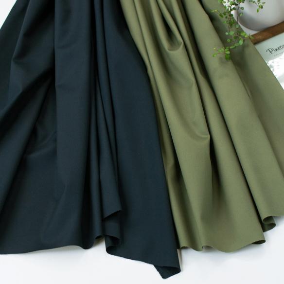 【布帛】夏のパンツに!4D コットン・ナチュラルストレッチ60/2ギャバ(2色展開) オーダーカット