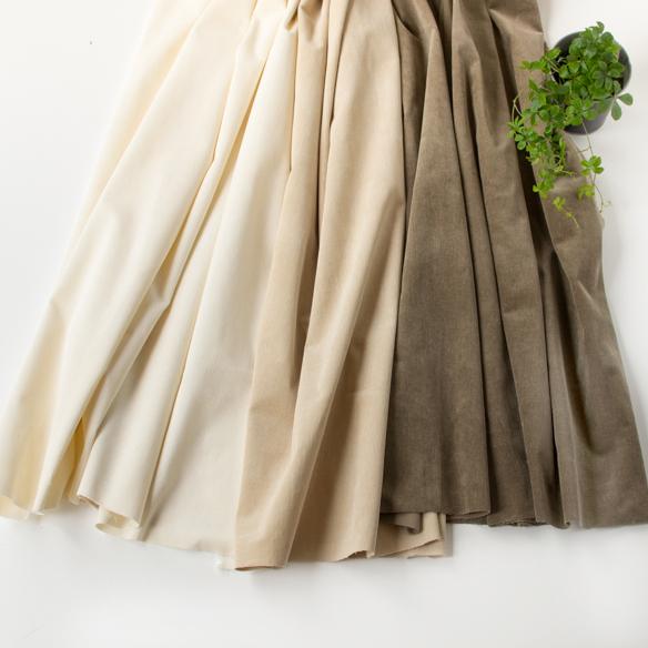 【布帛】モダール混やわらかストレッチしっかり厚みのコーデュロイ(3色)  オーダーカット