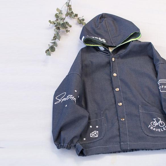 【プレゼントパターン】キッズ・ドルマンライトコート(130サイズのみ)